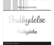 Simple and Basic Indbydelse Hot Foil Plates (SBH012)