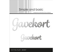Simple and Basic Gavekort Hot Foil Plates (SBH007)
