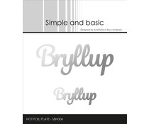 Simple and Basic Bryllup Hot Foil Plates (SBH006)