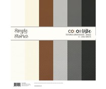 Simple Stories Color Vibe Textured Cardstock 12x12 Inch Basics (13406)