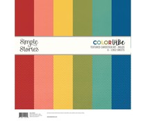 Simple Stories Color Vibe Textured Cardstock 12x12 Inch Bolds (13414)