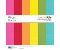 Simple Stories Color Vibe Textured Cardstock 12x12 Inch Brights (13422)