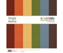 Simple Stories Color Vibe Textured Cardstock 12x12 Inch Fall (13450)