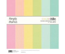 Simple Stories Color Vibe Textured Cardstock 12x12 Inch Lights (13430)