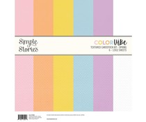 Simple Stories Color Vibe Textured Cardstock 12x12 Inch Spring (15806)