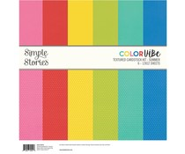Simple Stories Color Vibe Textured Cardstock 12x12 Inch Summer (15814)