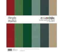 Simple Stories Color Vibe Textured Cardstock 12x12 Inch Winter (13457)