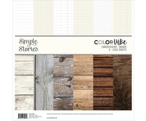 Simple Stories Color Vibe Designer Cardstock 12x12 Inch Woods (15822)