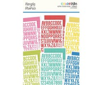 Simple Stories Color Vibe Alpha Sticker Books Summer (15815)