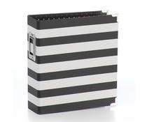 Simple Stories SN@P! Designer Binder 6x8 Inch Black Stripe (3994)
