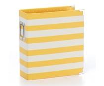 Simple Stories SN@P! Designer Binder 6x8 Inch Yellow Stripe (3997)
