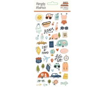 Simple Stories Safe Travels Puffy Stickers (14821)