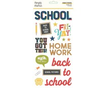Simple Stories School Life Foam Stickers (14920)