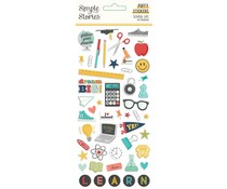 Simple Stories School Life Puffy Stickers (14921)