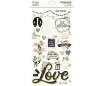 Simple Stories Happily Ever After Chipboard (15515)