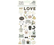 Simple Stories Happily Ever After Puffy Stickers (15521)