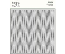 Simple Stories Happily Ever After Stencils Herringbone (15526)