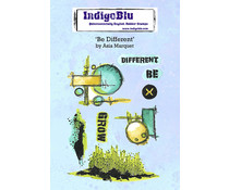 IndigoBlu Be Different by Asia A6 Rubber Stamps (IND0756)