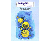 IndigoBlu Man in the Moon by Asia A6 Rubber Stamps (IND0758)