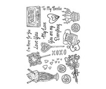 The Card Hut Romantic Explosion Clear Stamps (SSB007)