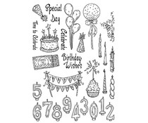 The Card Hut Party Explosion Clear Stamps (SSB008)