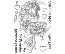 The Card Hut Mythical Creatures: Valentine Moon Clear Stamps (LRMC001)