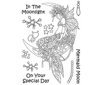 The Card Hut Mythical Creatures: Mermaid Moon Clear Stamps (LRMC002)