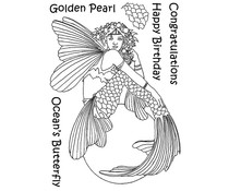 The Card Hut Mythical Creatures: Golden Pearl Clear Stamps (LRMC003)