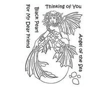 The Card Hut Mythical Creatures: Black Pearl Clear Stamps (LRMC004)