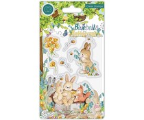 Craft Consortium Bluebells and Buttercups Bench Clear Stamps (CCSTMP059)