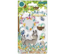 Craft Consortium Bluebells and Buttercups Donkey Clear Stamps (CCSTMP058)