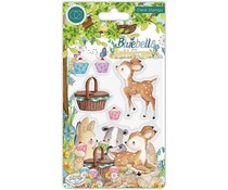 Craft Consortium Bluebells and Buttercups Picnic Clear Stamps (CCSTMP057)