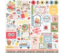 Carta Bella Summer 12x12 Inch Element Sticker (CBS133014)