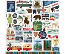 Carta Bella Outdoor Adventures 12x12 Inch Element Sticker (CBOA134014)