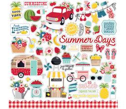 Echo Park A Slice Of Summer 12x12 Inch Element Sticker (SOS241014)