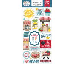 Echo Park A Slice Of Summer Chipboard Phrases (SOS241022)