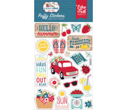 Echo Park A Slice Of Summer Puffy Stickers (SOS241066)