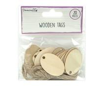 Dovecraft Wooden Oval Tags (20pcs) (DCBS260)