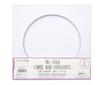 Dovecraft Tri-fold 6x6 Inch Circle Aperture Cards & Envelopes (DCBS258)