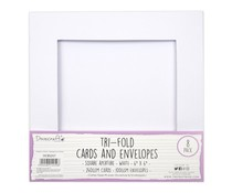 Dovecraft Tri-fold 6x6 Inch Square Aperture Cards & Envelopes (DCBS257)