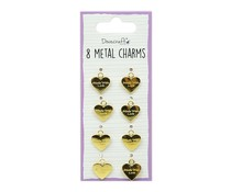 Dovecraft Metal Charms Gold (8pcs) (DCBS251)