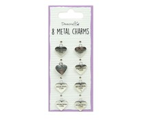 Dovecraft Metal Charms Silver (8pcs) (DCBS252)