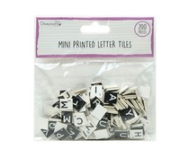 Dovecraft Mini Letter Tiles Black and White (200pcs) (DCBS267)