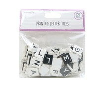 Dovecraft Printed Letter Tiles Black and White (150pcs) (DCBS261)