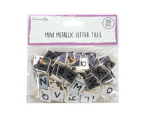 Dovecraft Mini Metallic Letter Tiles Silver (200pcs) (DCBS264)
