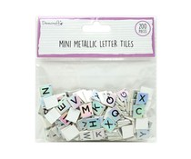 Dovecraft Mini Metallic Letter Tiles Iridescent (200pcs) (DCBS266)