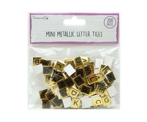 Dovecraft Mini Metallic Letter Tiles Gold (200pcs) (DCBS263)
