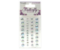 Dovecraft Butterfly Kisses Adhesive Glitter Gems (DCDOT055)