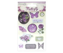 Dovecraft Butterfly Kisses Puffy Stickers (DCSTK098)