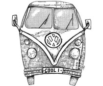 Crafty Individuals Camper Van COOL 1 Unmounted Rubber Stamps (CI-546)